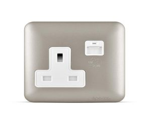 Spectra Almas 13A 250V Socket with USB outlet. Colored